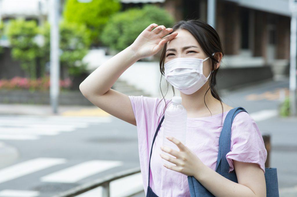 マスク暑い